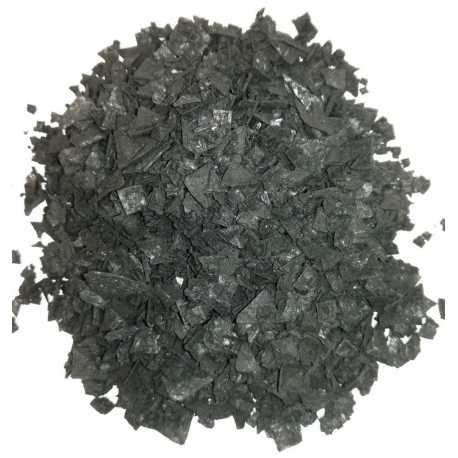 Escamas de sal negra con carbón